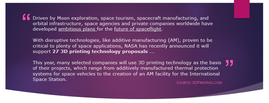 NASA 3D Printing announcement quote #1
