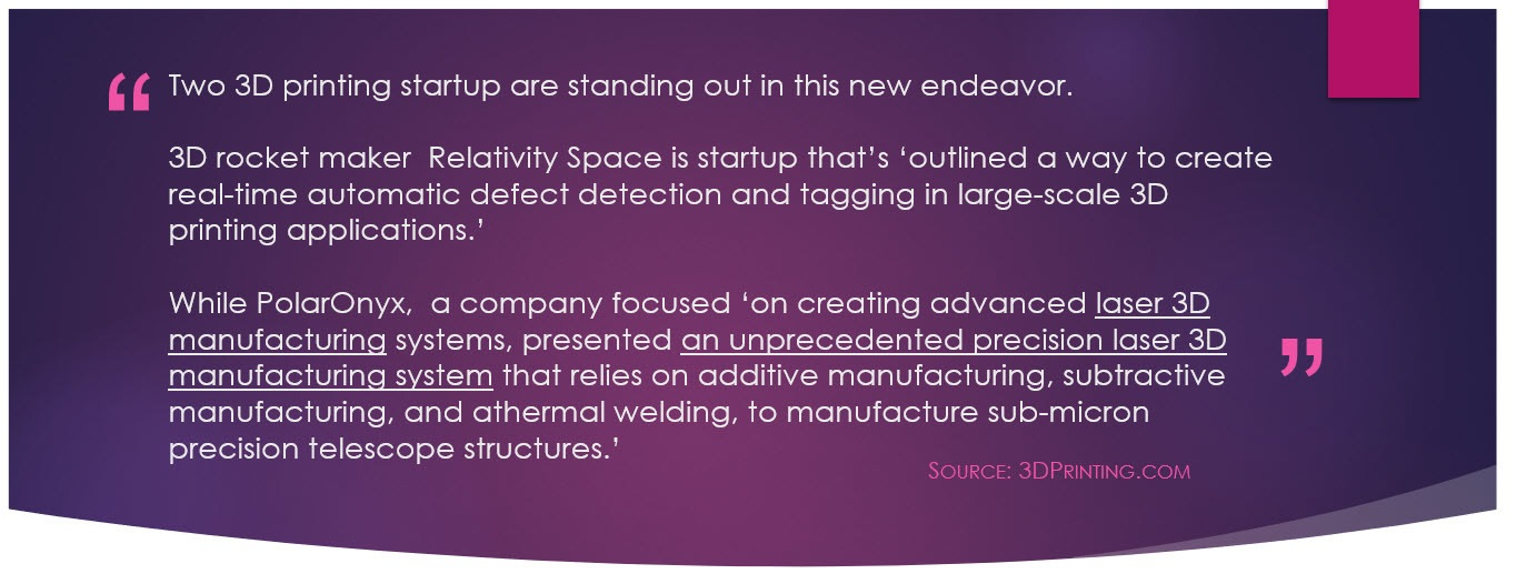 NASA 3D Printing announcement quote #2