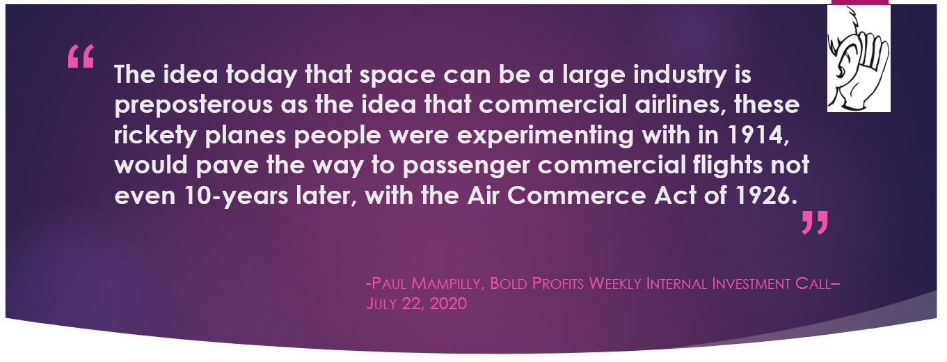 Paul Golden Nugget Quote from weekly call