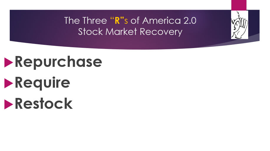 The Three Rs of america 2.0 stock market recovery August 2020
